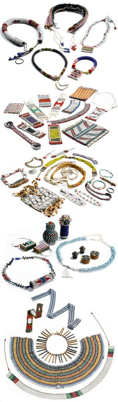 Africa | 49 pieces of Northern Nguni (Zulu, Swazi and Transvaal Ndebele) and Southern Nguni (Xhosa) jewellery and beadwork items | Collected in situ (South Africa) in the 1930s. || Est. 20.000 - 30.000$ African Jewelry, Ethnic Jewelry, African Beauty, African Fashion, African Traditions, Xhosa, African Crafts, Beadwork Designs, African Artists