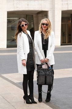 Black and white and chic all over.