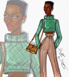 #Hayden Williams Fashion Illustrations #'The IT Girl' by Hayden Williams