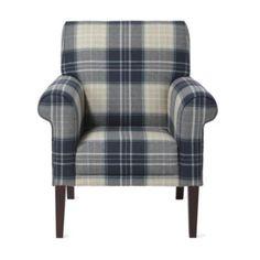 Highland plaid armchair