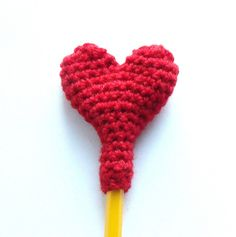 Heart Pencil Topper by Maria Stout  © 2012 Maria Stout