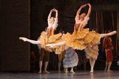 Kizzy Howard & Camilla Holst Ruelykke as Kitri's Friends in the Royal Danish Ballet's DON QUIXOTE