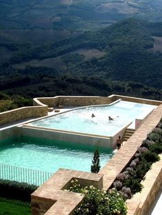 Our kind of pool - Castello Di Velona, Montalcino, Italy Places Around The World, Oh The Places You'll Go, Places To Travel, Travel Destinations, Places To Visit, Dream Vacations, Vacation Spots, Siena Toscana, Ideas De Piscina