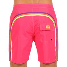 LONG SWIM SHORTS WITH RAINBOW BANDS COLOR ORCHID (M503BDTA100-095) | Man Sundek
