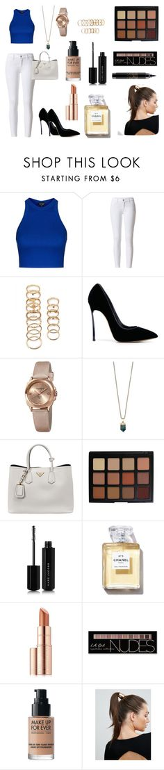 """Untitled #454"" by patricia-correia1990 on Polyvore featuring Topshop, Forever 21, Casadei, Akribos XXIV, Decadorn, Prada, Morphe, Marc Jacobs, Estée Lauder and Charlotte Russe"