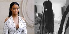 """Rihanna showed off her new look during Paris Fashion Week with a Bob Marley reference on her Instagram. """"Buffalo $oldier,"""" she captioned the shot. /  https://tr.pinterest.com/alicokun/sevimli-canl%C4%B1lar-cute-living-things/"""