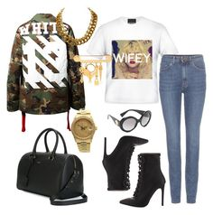 Untitled #148 by raphaelaelena on Polyvore featuring polyvore, fashion, style, Yves Saint Laurent, Jeffrey Campbell, Rolex, Chanel, Versace and Off-White