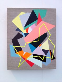 Fiona Curran.  Geometric Artwork, Paintings & Mixed Media Collages