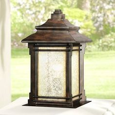 """Hickory Point 16 1/2"""" Pier Mount Light in Walnut Bronze - #N8950   Lamps Plus"""