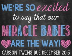 Are you looking for an adorable way to announce that you are pregnant with twins? This printable photo prop will allow you to let everyone
