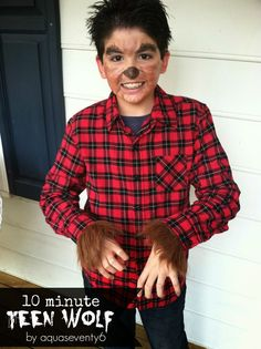 teen wolf diy halloween costume for kids tutorial