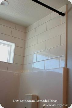 laying tile above shower surround bathrooms in 2019 inexpensive rh pinterest com