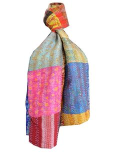Unique kantha embroidered stoles and dupattas from Bengal. Pay COD. Shop at http://www.giftpiper.com/browse/kantha-1