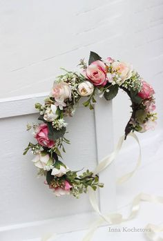 Elegant floral crown in the boho style. It will be perfect for your wedding f9752ffabb5