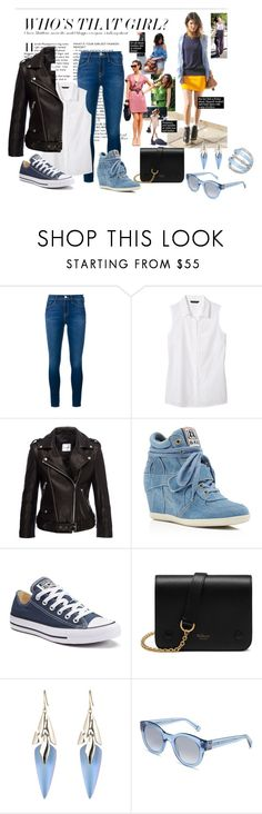"""Casual"" by megeller on Polyvore featuring moda, Frame Denim, Banana Republic, Anine Bing, Ash, Converse, Mulberry, Alexis Bittar, Bobbi Brown Cosmetics e GUESS"