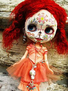Sugar skull doll on eBay by @Jean Yates