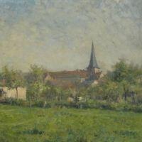 Léon Delachaux, Paysage avec église, sur www.leondelachaux.org