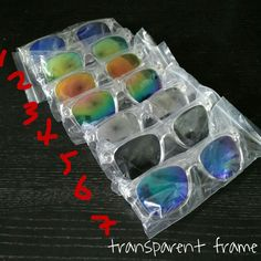 Transparent reflective Shades