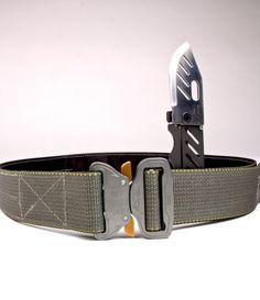 Crosstac••D-Belt 2••Tactical Belt~~Perfect belt for concealed carry. Comes with Cobra QD buckle, a concealed Böker Credit Card Knife, and a hidden money slot.