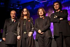 Bill Ward, Ozzy Osbourne, Geezer Butler and Tony Iommi of Black Sabbath.