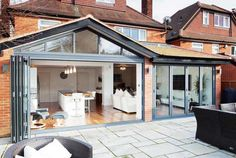 If you are looking to add space to your home, a rear extension might be the easiest to accommodate from a planning and spatial point of view. Homebuilding & Renovating shares projects to inspire you House Extension Plans, House Extension Design, Glass Extension, Extension Designs, Rear Extension, House Design, Extension Ideas, Extension Google, Cottage Extension