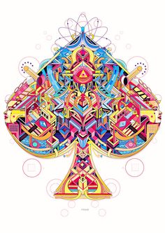 Artwork Design, Art Design, Graphic Design, Design Ideas, Tarot, Creators Project, Sacred Geometry, Oeuvre D'art, Vector Art