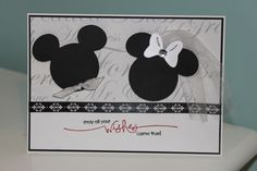 Congratulations on your engagement card.  Using Mickey and Friends cartridge and Stampin' Up stamps