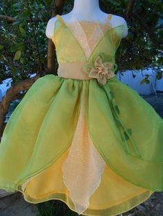 Addie - dress up?  Infant/ Toddler Princess Tiana Inspired by Princessonthego on Etsy, $40.00