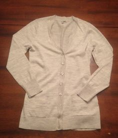 Halogen Wool Grey Heather Cardigan size M Petite for only $30.00! Originally $46.00.
