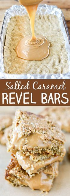 Salted Caramel Revel Bars -buttery oatmeal cookie bars with a rich and delicious salted caramel filling.
