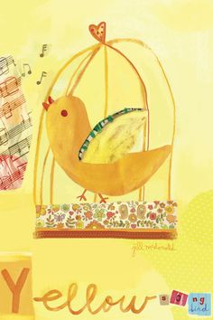 Yellow Bird by Oopsy daisy