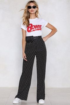 Dot a minute polka dot pants shop clothes at nasty gal! Polka Dot Pants, Polka Dots, Polka Dot Outfit, Rachel Zoe, Casual Outfits, Cute Outfits, Fashion Outfits, Pants For Women, Clothes For Women