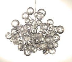 Transparent Bubbles Lightshade - Handmade Chandelier Ceiling Light for Bedroom, Living Room, Hall or Office lighting - Unique Light Fixtures - Great Gift Ideas- Office Decorations * Check this awesome product by going to the link at the image.