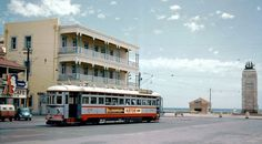 The Grand Hotel Glenelg and a early days tram. Adelaide South Australia, Australia Photos, Make Way, Light Rail, Grand Hotel, Old Photos, Location History, Melbourne, Nostalgia
