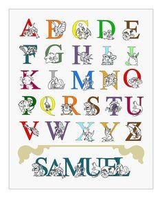 Personalized Pokemon Alphabet Print 8x10 by HeartworkPrints on etsy.com, $20.00