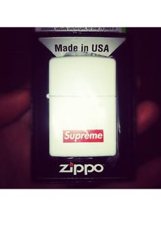 Yeah, got it! White matte Supreme! Zippo!
