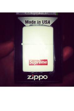 Yeah, got it! White matte Supreme! Zippo!