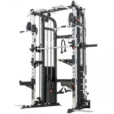 Garage Gym Monster Power Rack, Functional Trainer & Smith Machine Combo back right. Pull Up Station, Dip Station, Pull Up Bar, Garage Gym, Basement Gym, Best Home Workout Equipment, Strength Training Equipment, Gym Equipment, Power Rack