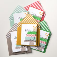 Stampin' Up! Build a Birthday is such a fun and happy builder set.  The patterned strips can build a cake, or candles, or washi...the possibilities are endless.