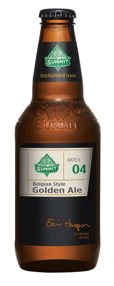 Summit BGA, looks more like a spirits label than a beer label