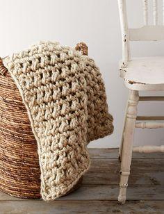Easy Going Crochet Blanket | AllFreeCrochetAfghanPatterns.com