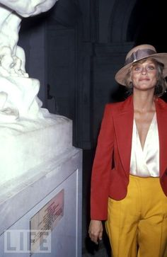 Lauren Hutton. She opitimizes the classic Ralph Lauren prep style and she know how to wear it well.