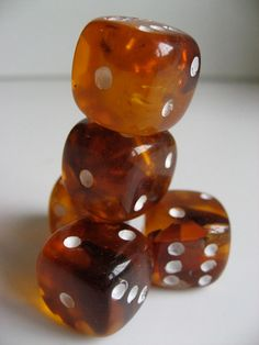 Unusual set of Baltic Amber Dice by uulipolli