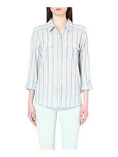 PAIGE DENIM Mabel striped cotton shirt