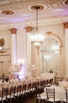 Elegant blush, cream and champagne wedding at Chateau Laurier in Ottawa.