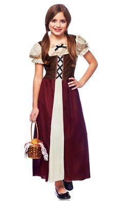 Renaissance Medieval Peasant Girl Child Kids Halloween Costume Fancy Dress 49463 | eBay