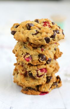 Vegan and gluten free chocolate chip cranberry cookies
