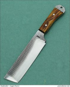 Pearce Knives – Rasp Cleaver (made from an old rasp)