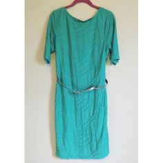 """Like New Mint Dress & Belt Like new. Worn once. Silver belt included. Measuring from shoulder to bottom of dress is about 39 inches. I'm 5'6"""" and this dress goes right at my knees. I'm a size 8 and this fit comfortably loose (I didn't want it too tight, so I bought a larger size.)  : Same day shipping before 5pm CST. : Bundle and save! : Reasonable offers welcome. : Comes from pet/smoke free home. : No trades. Dress Barn Dresses Midi"""