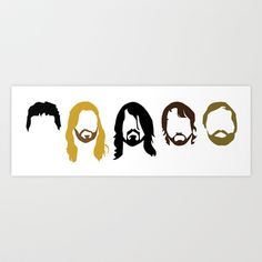 5 Musicians  Art Print by luigidipalo - $18.00